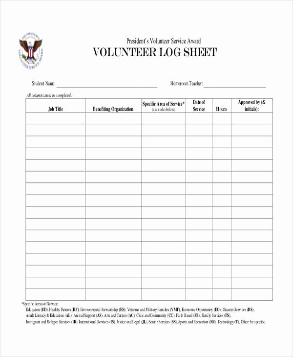 Volunteer Hours Log Template Awesome 45 Printable Sheet Samples & Templates Pdf Doc