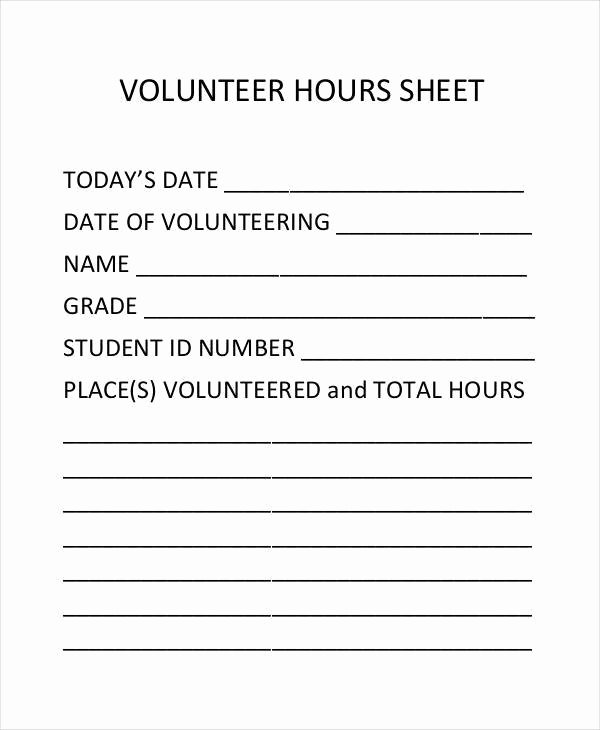 Volunteer Hours Log Template Elegant 45 Printable Sheet Samples & Templates Pdf Doc