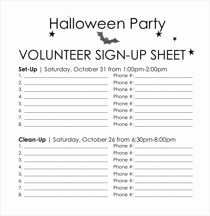 Volunteer Sign Up Sheet Templates Awesome Sign Up Sheets 58 Free Word Excel Pdf Documents