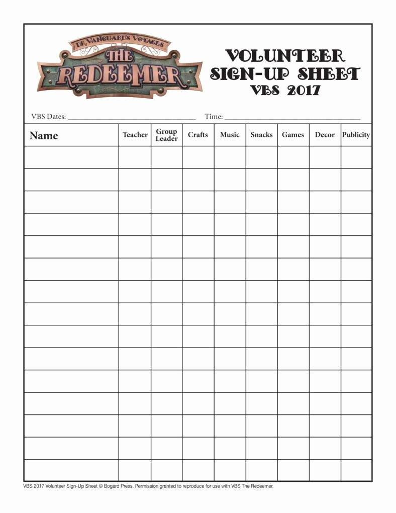 Volunteer Sign Up Sheet Templates Lovely 10 Volunteer Sign Up Sheet Templates Pdf