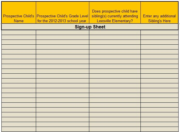 Volunteer Sign Up Sheet Templates Lovely 9 Free Sample Volunteer Sign Up Sheet Templates