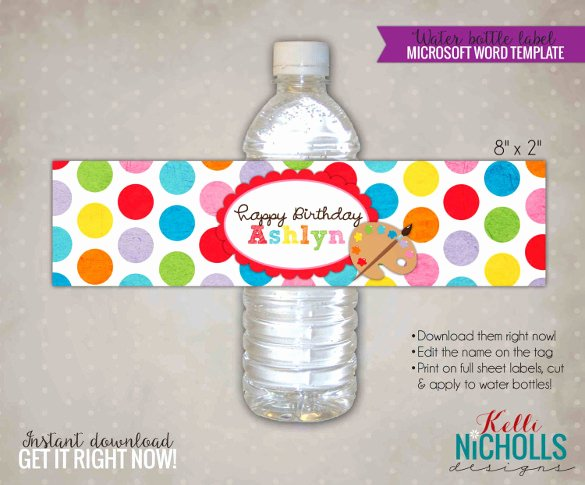Water Bottle Label Template Free Best Of Water Bottle Label Template 28 Free Psd Eps Ai