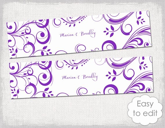 Water Bottle Labels Template Word Awesome 23 Of Purple Label Template
