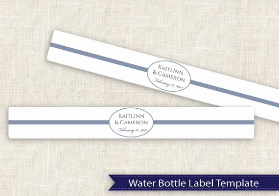 Water Bottle Labels Template Word Fresh Diy Water Bottle Label Template for Avery by
