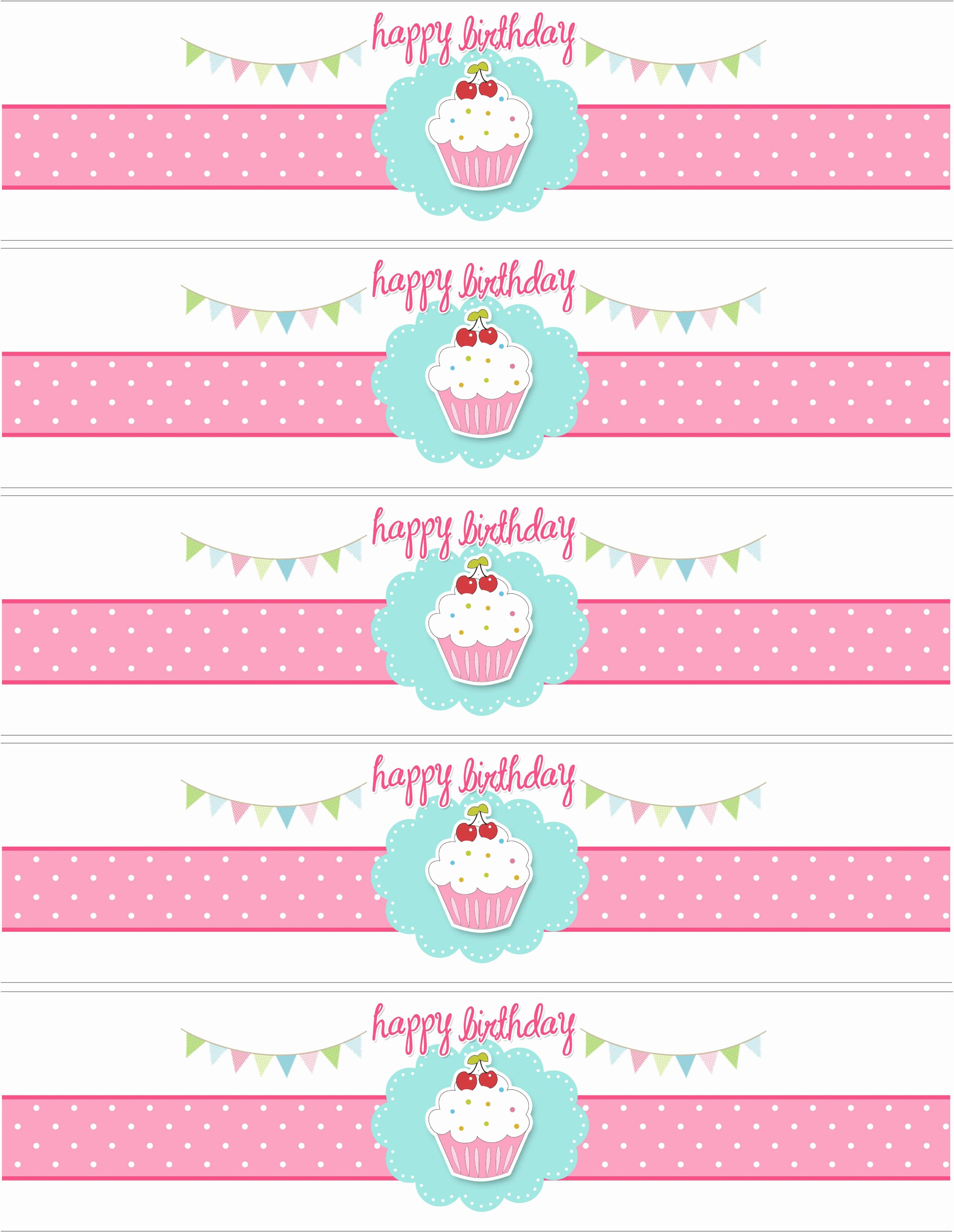 Water Bottle Labels Template Word Unique Cupcake Birthday Party with Free Printables How to Nest