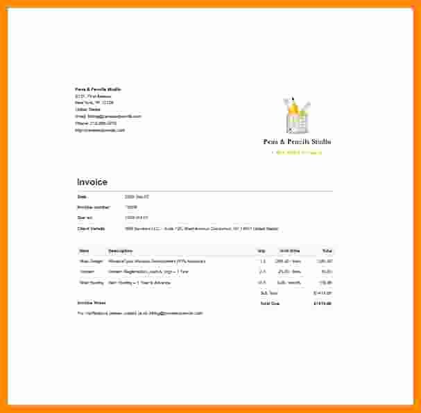 Web Design Invoice Template Awesome 7 Web Design Invoice Template