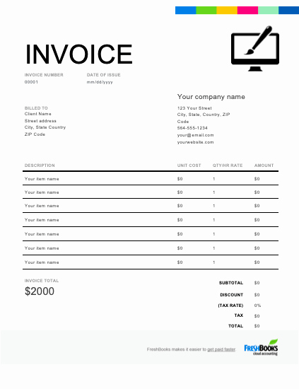 Web Design Invoice Template Beautiful Web Design Invoice Template Free Download