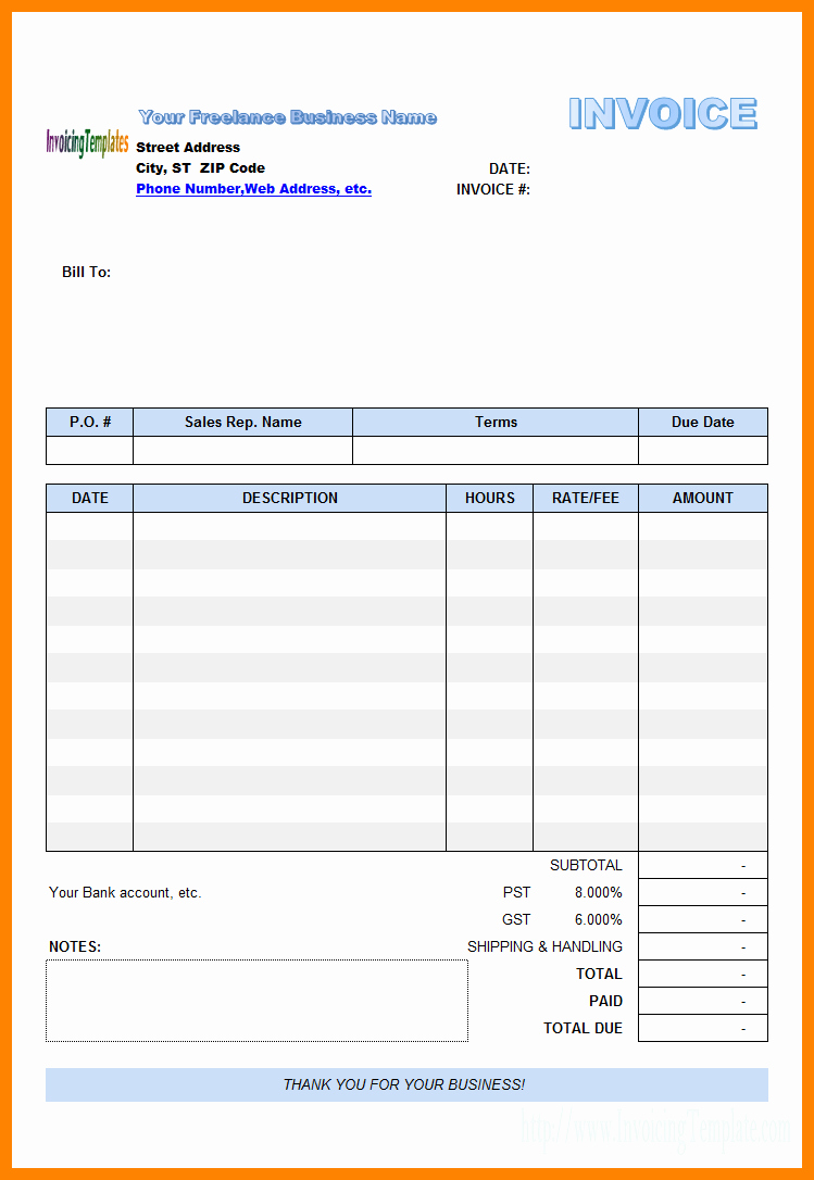 Web Design Invoice Template Best Of 5 Paid In Full Invoice Template