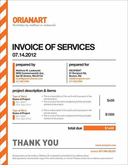 Web Design Invoice Template Inspirational 10 Creative Invoice Template Designs Design