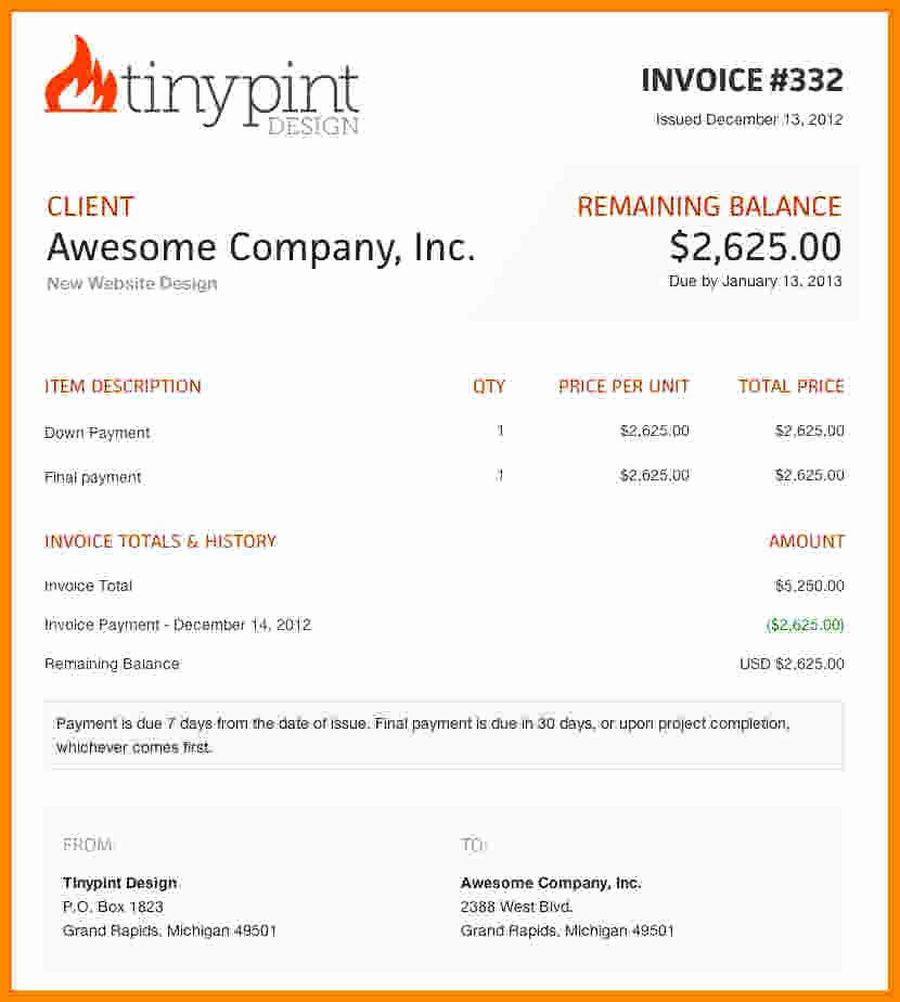 Website Design Invoice Template Awesome 7 Web Design Invoice Template