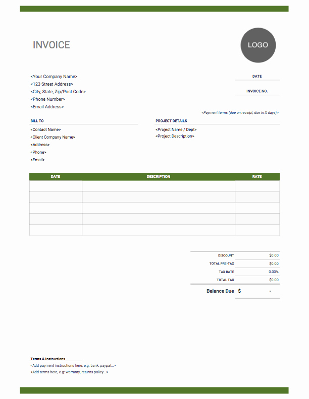 Website Design Invoice Template Awesome Graphic Design Invoice Download Free Templates