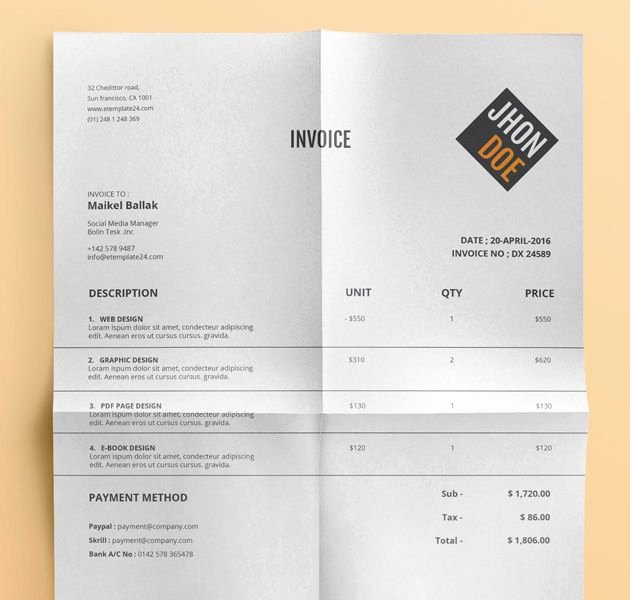 Website Design Invoice Template Beautiful 10 Free Invoice Templates for Creatives 1stwebdesigner