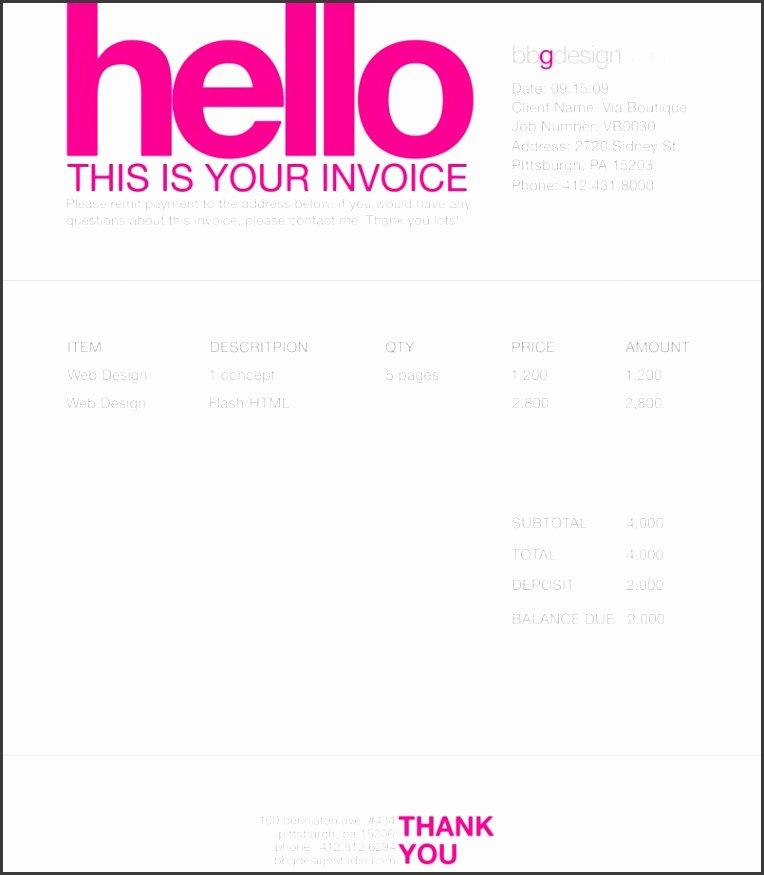 Website Design Invoice Template Beautiful 7 Web Design Invoice Template Sampletemplatess