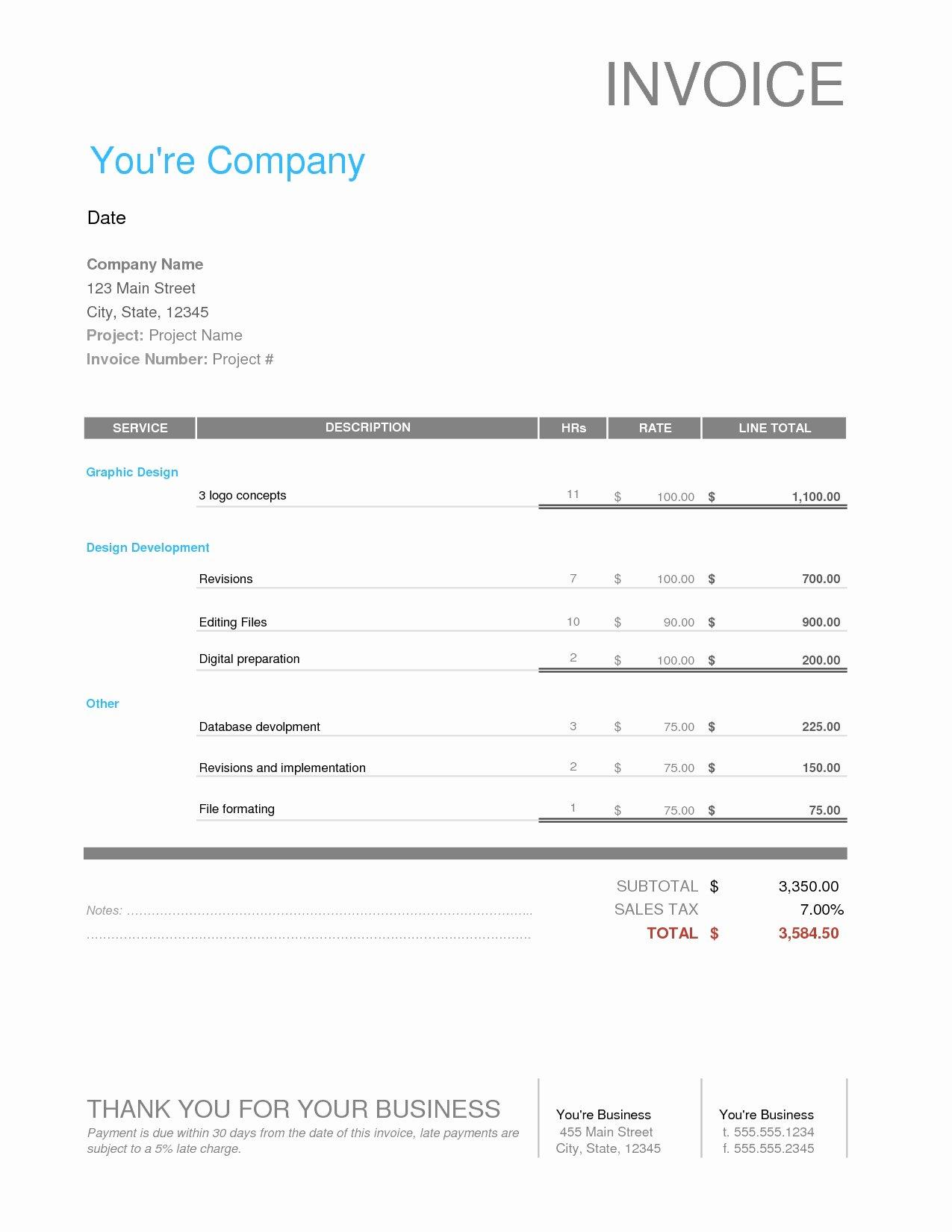 Website Design Invoice Template Beautiful Web Design Invoice Template Invoice Template Ideas