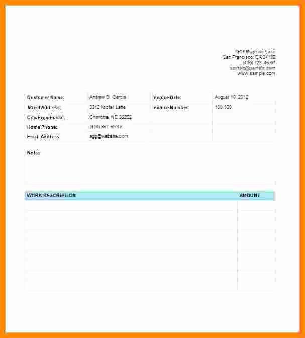 Website Design Invoice Template Fresh 7 Web Design Invoice Template