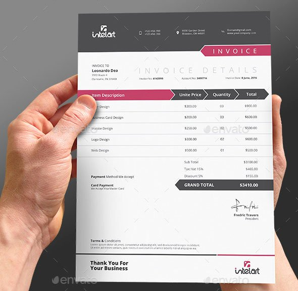Website Design Invoice Template Lovely 37 Best Psd Invoice Templates for Freelancer – Bashooka