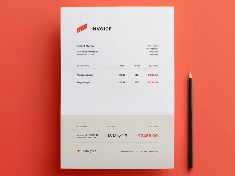 Website Design Invoice Template Luxury 10 Free Invoice Templates for Creatives 1stwebdesigner