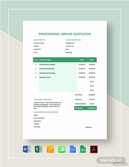 Website Design Quotation Template Fresh 147 Free Quotation Templates In Microsoft Word [doc