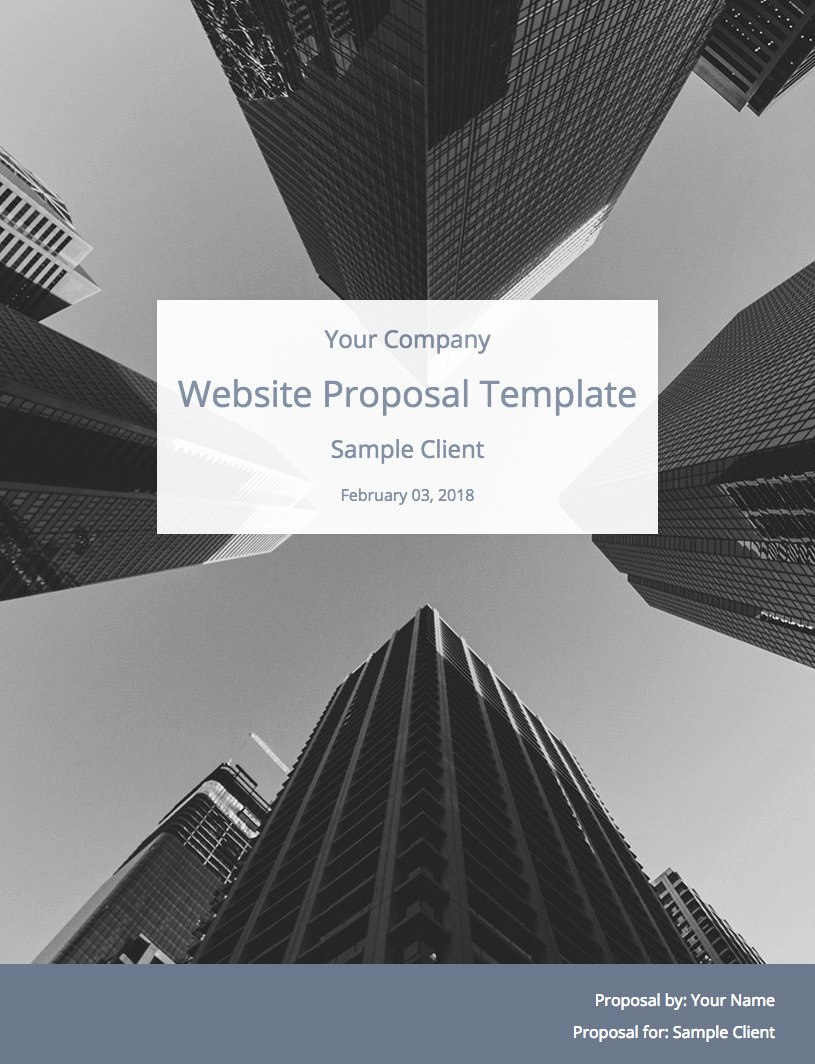 Website Proposal Template Doc Awesome Ultimate Web Design Proposal Template Free Download
