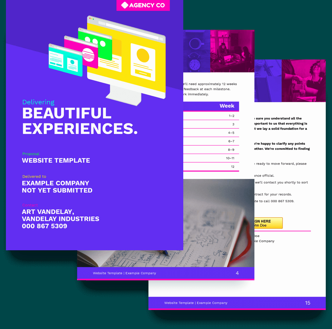 Website Proposal Template Doc Beautiful Website Proposal Template