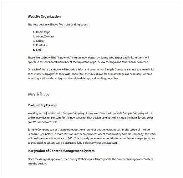 Website Proposal Template Doc Best Of Proposal Templates – 140 Free Word Pdf format Download
