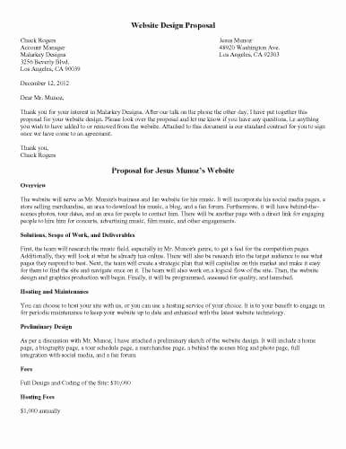 Website Proposal Template Doc Inspirational 32 Sample Proposal Templates In Microsoft Word