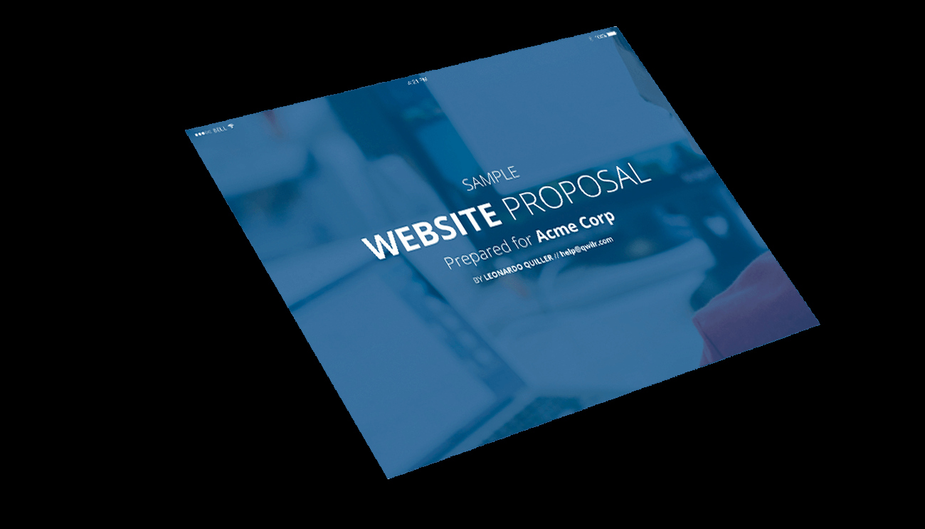 Website Proposal Template Doc Inspirational Website Proposal Template Professionally Designed Sample