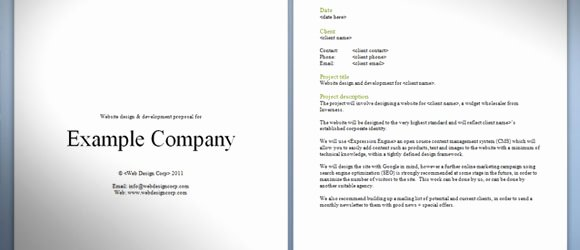 Website Proposal Template Doc Lovely Download Free Website Proposal Template for Web Designers