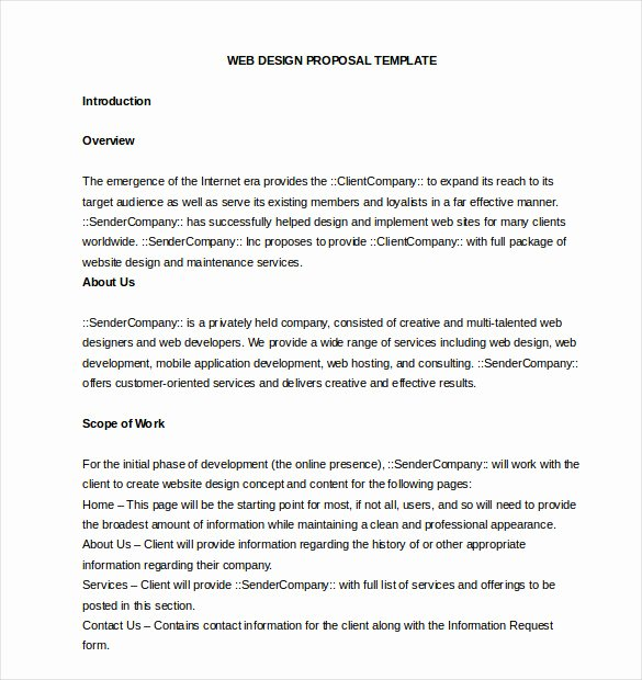 Website Proposal Template Doc Unique 45 Business Proposal Templates Doc Pdf