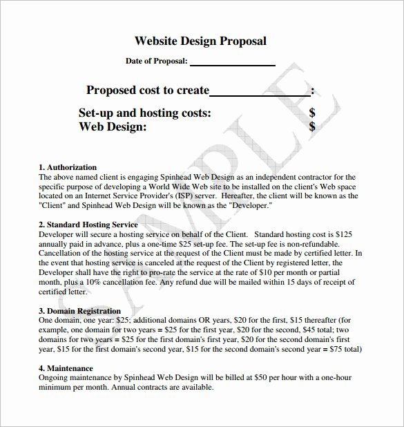 Website Proposal Template Word Best Of [download] Website Proposal Template Word Bonsai