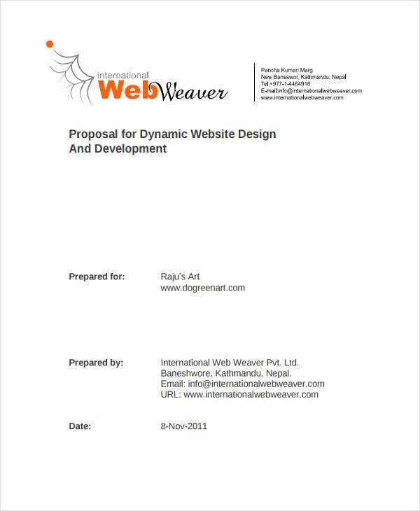 Website Proposal Template Word Fresh 10 Website Design Proposal Templates Word Pdf Pages