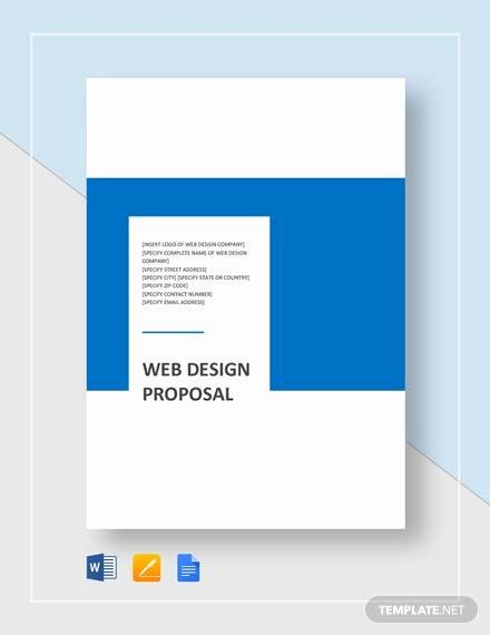 Website Proposal Template Word Inspirational Sample Web Design Proposal Template 13 Free Documents
