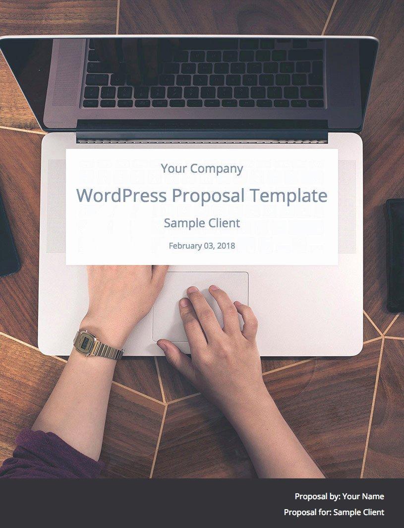 Website Proposal Template Word Unique Wordpress Website Proposal Template by Wpelevation