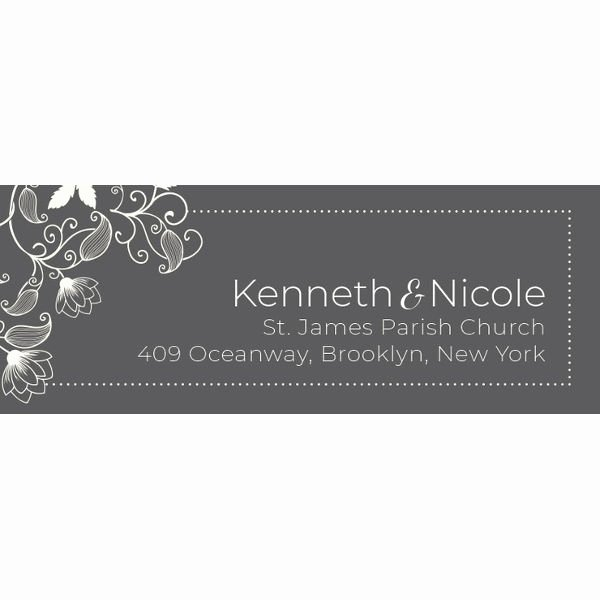 Wedding Address Label Template Awesome 58 Free Label Designs Psd Vector Eps Ai