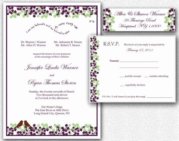 Wedding Address Label Template Beautiful Items Similar to Wedding Invitation Rsvp Card & Return