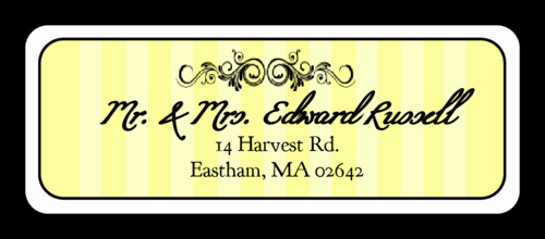 Wedding Address Label Template Elegant Madison Avenue Subtle Yellow Wedding Address Label
