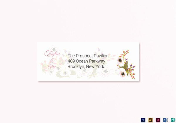 Wedding Address Label Template Fresh 43 Wedding Templates Word