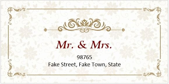 Wedding Address Label Template Fresh 6 Wedding Address Label Templates for Ms Word