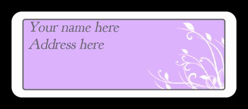 Wedding Address Label Template Inspirational Cape Cod Lavender Wedding Address Label Label
