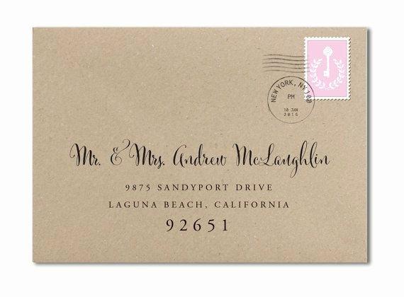 Wedding Address Label Template Inspirational Custom Wedding Envelope Custom Calligraphy Envelope