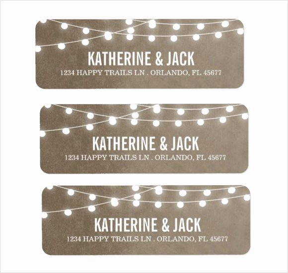 Wedding Address Label Template Inspirational Free 6 Return Address Label Templates In Samples