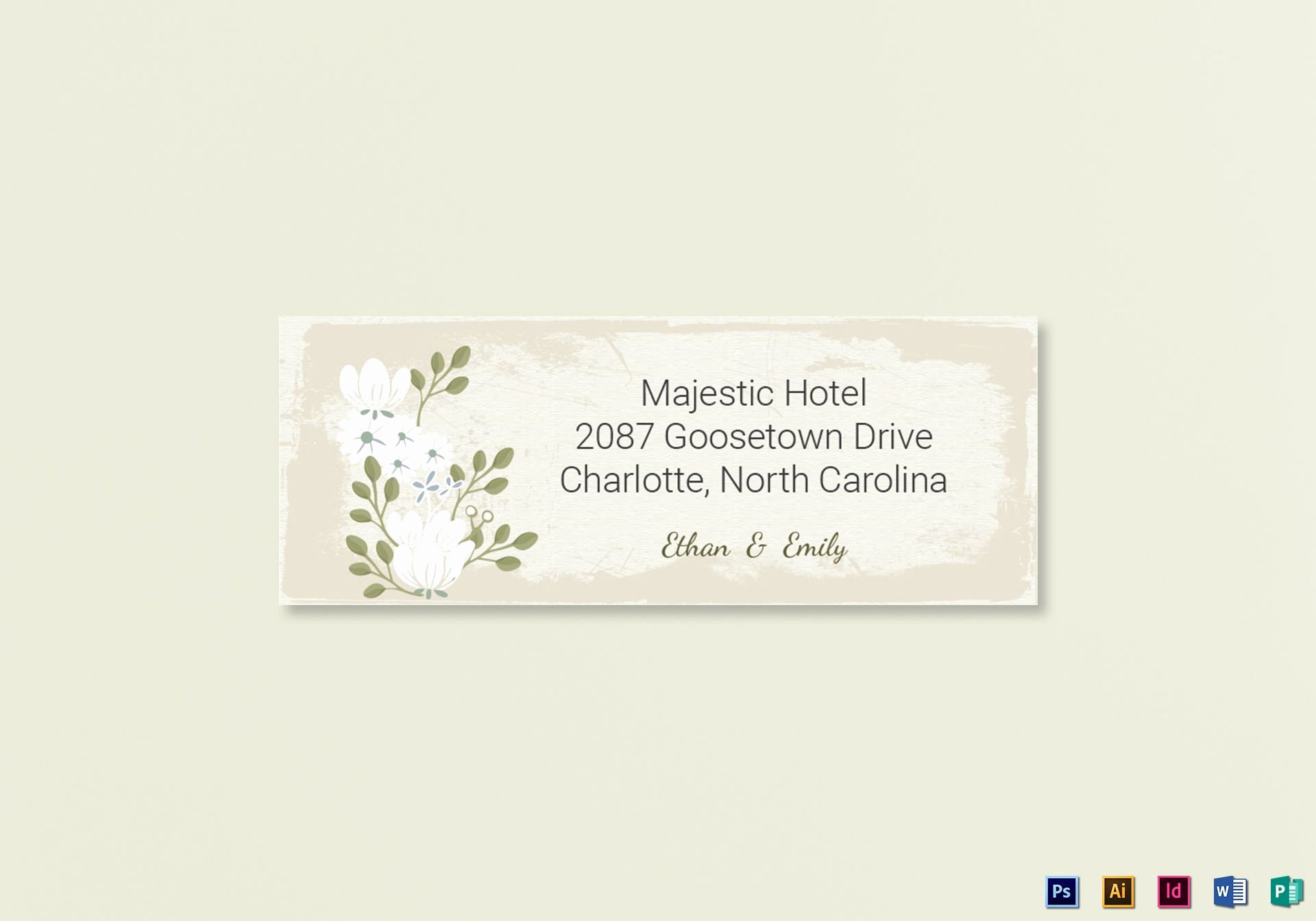 Wedding Address Label Template Inspirational Vintage Wedding Address Labels Card Template In Psd Word