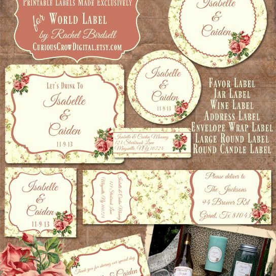 Wedding Address Label Template Lovely Free Wedding Label Templates for Favors and More
