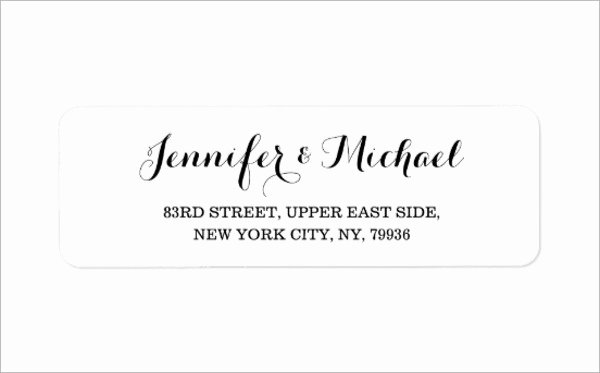 Wedding Address Label Template New 11 Wedding Address Labels Psd