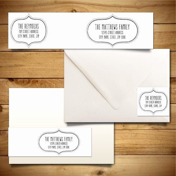 Wedding Address Label Template New Items Similar to Printable Address Label Template for A7