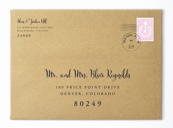 Wedding Address Labels Template Awesome Envelope Template Envelope Address Template Wedding