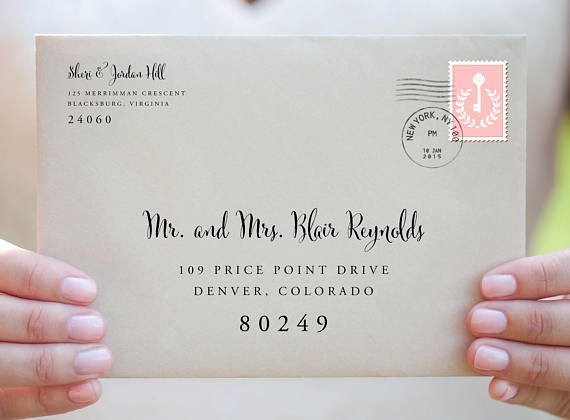 Wedding Address Labels Template Best Of Envelope Template Envelope Address Template Wedding