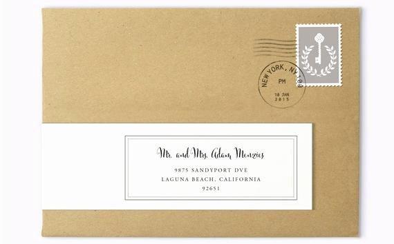 Wedding Address Labels Template Best Of Wrap Around Labels Printable Address Labels Wedding