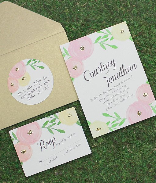 Wedding Address Labels Template Elegant Garden Bouquet Wedding Address Labels – Download & Print