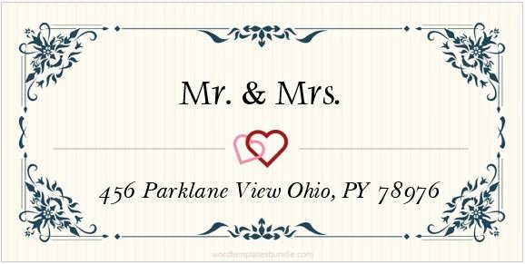 Wedding Address Labels Template Inspirational 6 Wedding Address Label Templates for Ms Word